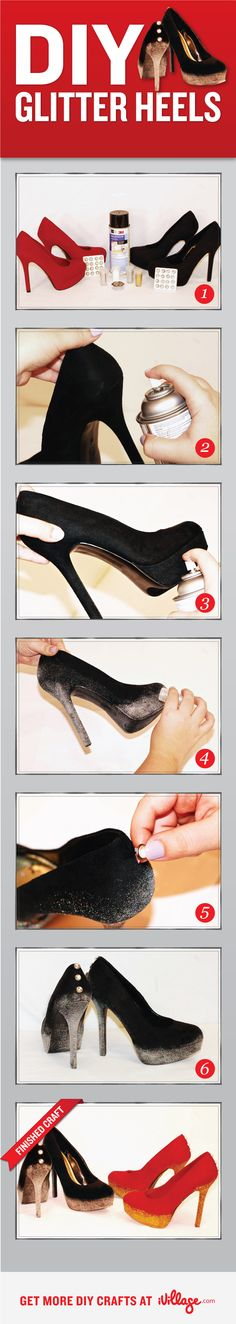 DIY Glitter Heels!!!! For all of the HC ladies! Just in time for the Spring Formal!