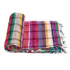 Handloomed Rag Rug Yoga Mat Handmade Saree Chindi Carpet Rectangular Durrie Y779 #JodhpurRugs #RagRug