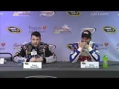 Dale Earnhardt Jr. tries not to laugh as Tony Stewart insults reporter - YouTube