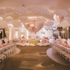 New Birthday Balloons Room Themed Parties Ideas Deco Baby Shower, Baby Girl Shower Themes, Girl Baby Shower Decorations, Baby Shower Balloons, Baby Shower Gender Reveal, Birthday Balloons, Shower Party, Birthday Decorations, Baby Shower Parties