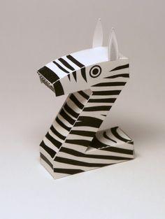 Z is for Zebra: Amazing #papercraft #alphabet free #printables!
