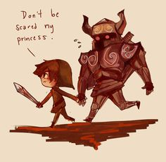 So cute omg...Don't be scared my Princess (fan art for The Legend of Zelda: Spirit Tracks #NDS )
