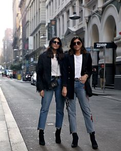 ALL ABOUT THE DENIM WITH REVOLVE Denim Fashion, Cool Style, Normcore, Street Style, Shorts, Minimal, How To Wear, Jackets, Outdoors