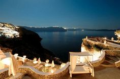 Relaxing Place in Santorini, Oia, Greece