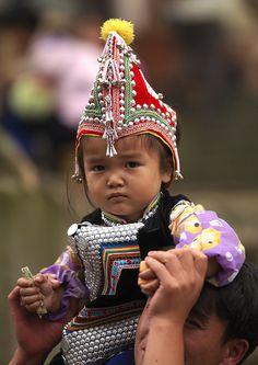 Hani Tribal Kid In Traditional Costume, Yuanyang, Yunnan Province, China | Flickr - Photo Sharing!