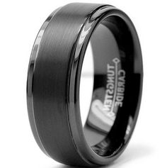 Incredibly Good Black Tungsten Carbide Wedding Bands More Design  http://articleall.com/black-wedding-band/black-tungsten-carbide-wedding-bands/