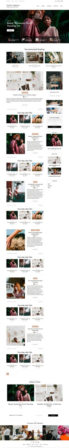 Hello! While I am working on a new Beautiful WordPress Theme (of course, what else;) just show you next screen of Mariann - second layout. Just a little changes with header and some elements.  Mari...