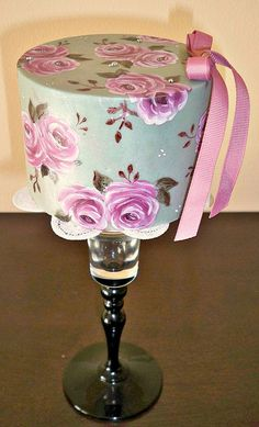 Pearl Gray hand painted cake by meriem bens, via Flickr