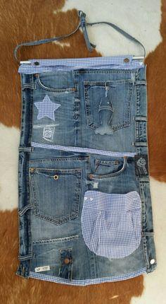 Organizer für den Wohnwagen Jeans Upcycling