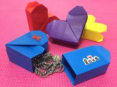 Akiko Yamanashi DIY Origami Secret Heart box Instructions Valentine's Da...