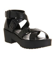 Office Dynamite Black Snake - Mid Heels