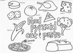 Printable - Color the Food Pyramid and Name the Food Groups-Boy ...