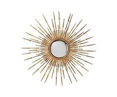Зеркало-солнце Fiesta - металл - золотой, 115х115х3,2 см