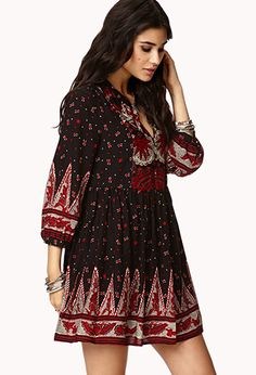 Peasant style dress by Forever 21. When I found it in the store they were out of smalls! It broke my heart