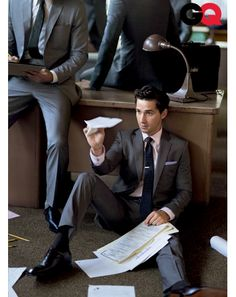 I believe ad executives should start dressing like bankers again. Tie bar. Pocket square. Cufflinks. He's so money. Shia LaBeouf.