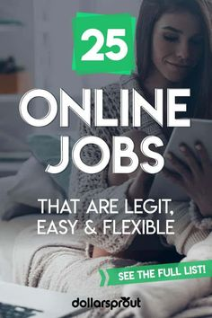 Online jobs are amazing. They allow you to work from anywhere at any time while earning a livable wage (from $10 to $100+/hr). Here are 25 online jobs that are flexible and pay more per hour than your average 9-to-5 office job.