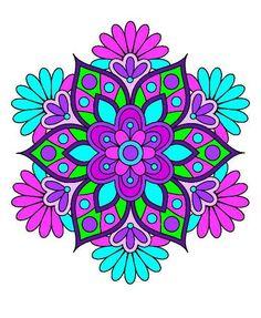 Rosa Mary's media content and analytics Mandala Artwork, Mandala Painting, Dot Painting, Coloring Books, Coloring Pages, Rock Crafts, Mandala Coloring, Rangoli Designs, Mandala Design