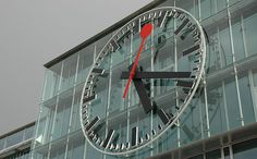 The railway station clock of Aarau, Switzerland is the biggest clock face in Europe - 9 meters in diameter. It behaves almost completely like a standard Swiss railway station #clock.