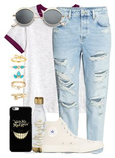 """Summer Style"" by madisoncorell on Polyvore featuring H&M, Converse, Zoë Chicco, Loren Stewart and J.W. Anderson"