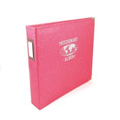 We R Memory Keepers - Classic Leather - Missionary - 12 x 12 - Three Ring Albums - Strawberry at Scrapbook.com