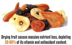 Drying fruit causes massive nutrient loss, depleting 30-80% of its vitamin and antioxidant content.
