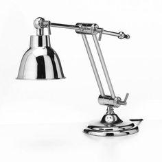 LAMPADA da TAVOLO in OTTONE CROMATO BRAID CONCEPT design arredamento casa chic