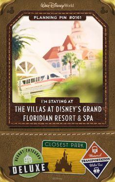 Walt Disney World Planning Pins: The Villas at Disney's Grand Floridian Resort & Spa