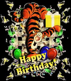 Tiger giving you susprise on your birthday