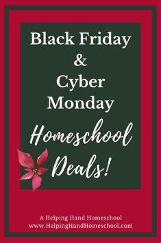Black Friday & Cyber Monday Homeschool Deals! #Christmas #BlackFriday #Discounts #Homeschool