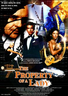 Ian Fleming - 'The Porperty of a Lady' - Poster 1 James Bond Movie Posters, James Bond Movies, Vintage Movie Theater, Vintage Movies, Bond Series, Timothy Dalton, Pierce Brosnan, Sci Fi Movies, Haha