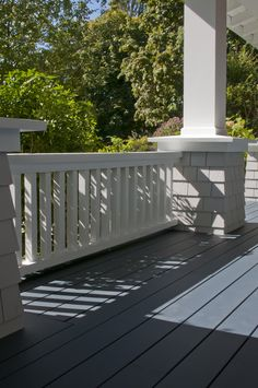 Dark Blue Porch Floor, White Trim. Exterior Painting And Colour  Consultation By Warline Painting