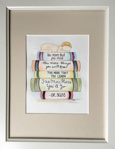Oh the Places You'll Go Nursery Watercolor. Dr by BMonteDesigns