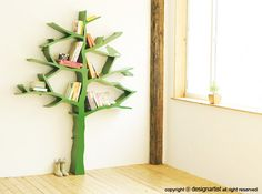 cool tree bookshelf for kids room