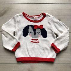 Gymboree Doggie Red Trim Sweater