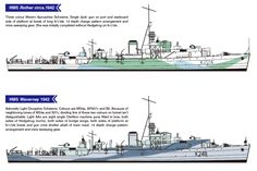 River class frigate Royal Canadian Navy, Royal Navy, Scale Model Ships, Scale Models, Dazzle Camouflage, Battleship, Ww2, Sailing, Diorama Ideas