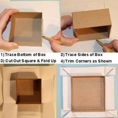 how to cover a box with scrapbook paper..... so I can use diaper boxes or any other box pretty & useful for storage.