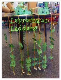 Fun ideas for St. Patrick's Day in a kindergarten classroom. Leprechaun traps, leprechaun ladders, narrative and opinion writing too! Lots of free ideas on this blog post.  (Mrs. Byrd's Learning Tree)