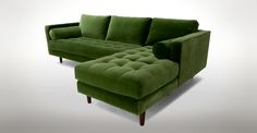 Sven Grass Green Right Sectional Sofa - Sectionals - Article | Modern, Mid-Century and Scandinavian Furniture