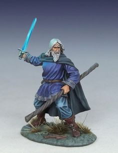 Painted 25mm scale Female Mage #11