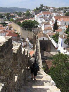 Obidos #Castle Wall, Obidos, Lisbon Region, Portugal