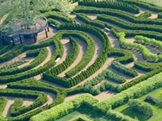 Maze Garden Morton Arboretum, Lisle IL  (My grandfather was the caretaker for the Morton's private residence in the Arboretum, so I have many fond memories as a child of this beautiful sanctuary).