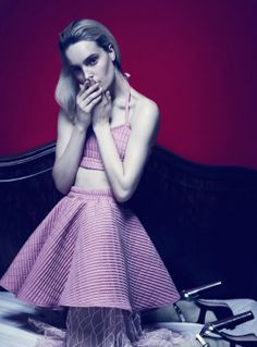 Pink skirt & top by PAJONK