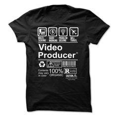 (Tshirt Discount) Hot Seller VIDEO PRODUCER [Tshirt Sunfrog] Hoodies, Tee Shirts
