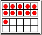 """Chapter 4 - Number Sense  *Ten frames to play """"War"""" - least/most  - See """"Ten Frames - Teen Frames"""" in Number Sense Folder"""
