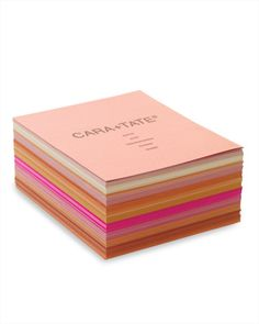 Colorful programs. Make wedding programs in all different shades of your color palette.