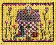 "EyeCandy Needleart: New Design ""Halloween Birdhouse"""