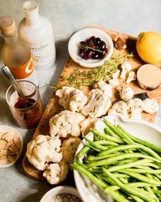 Green Beans With Almonds, Test Kitchen, Cauliflower, Chicken, Recipes, Food, Cauliflowers, Essen, Eten