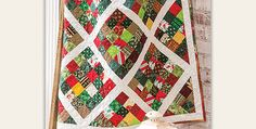 Speed Up Construction with An Ingenious Piecing Method! Patchwork blocks in an array of pretty fabrics and white lattice sashing combine in a beautiful quilt to enjoy all year around. The result is a striking quilt you'll be proud to display. This is a wonderful project for using up some of those leftovers, or select …