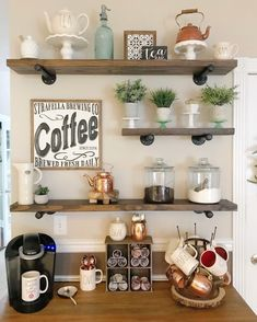 Winter to spring transition coffee bar coffeebardesign – Monique R. Breton - Home Coffee Stations Coffee Area, Coffee Nook, Coffee Corner, Coffee Tables, Coffee Bars In Kitchen, Coffee Bar Home, Coffee Detox, Boss Coffee, Home Decor Ideas