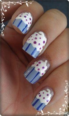 Cupcakes nails art !